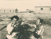 Mikuláš with Dáša, his wife, kibbutz Lehavot Chaviva, 1950