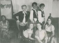 Purim in the kibbutz Lehavot Chaviva, about 1951