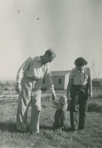 The family at the Lehavot Chaviva kibbutz, about 1953