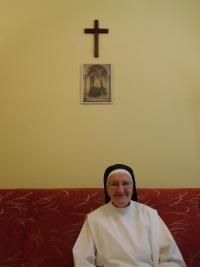 Slavomíra Měřičková in the monastery of dominican sisters in Prague