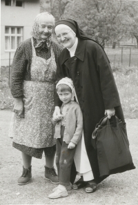 Slavomíra with her mother