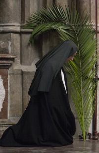 Sestra Dominika v katedrále sv. Víta na květnou neděli