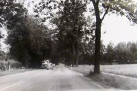A road in the direction of Dachau, where they were escaping during air raids on Munich, Germany, 1944