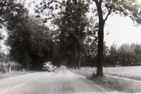 Silnice ve směru k Dachau, směr útěku při náletech na Mnichov 1944