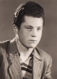 Manžel Miroslav Hampl v roce 1950