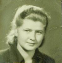 Evženie Hajná (Hamplová) asi v roce 1950