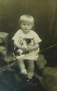 Evženie Hajná v dětství