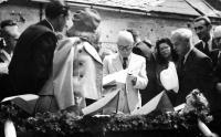 Návštěva prezidenta E. Beneše v Hrabyni, rok 1946