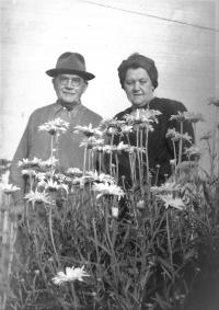 K. Engliš po mrtvici v Hrabyni, rok 1953