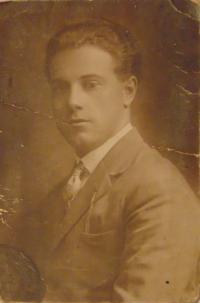 Historické fotky: Jan Laník (otec pamětnice), portrét