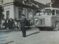 Alois Grůz jako řidič v ČSAD