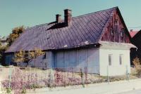 Rodný dům Aloise Grůze ve Zborově. Dnes už nestojí.