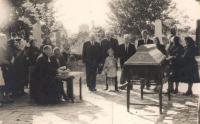 Grandmother Ruza's funeral, evangelistic cemetery, Novi Sad/Srbija, 1963