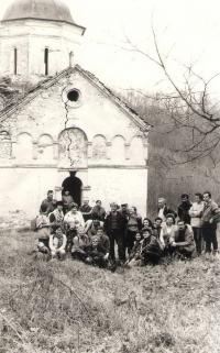 Monastery Staro Hopovo, Fruska Gora, mountaineering tour around 1985-6