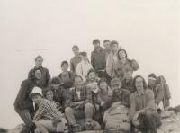 "Mountain top Raduhe, Slovenia, 1983, ""Mountaineering Sport Society-Zeleznicar, Novi Sad"""