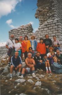 "Mountain top of Rtanj, ""Mountaineering sport society -Zeleznicar, Novi Sad"", 1996"