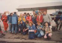Town of Drnis, on the way to mountain Promina/Croatia, Mountaineering sport society -Zeleznicar, Novi Sad, 1985