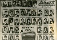 Graduation yearbook photo (bord photo) of Borovo Co. scholarships holders, Ruza Kolacek third row-first from left