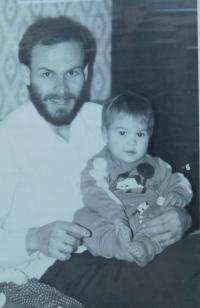 Milan Uhlíř with his daughter Markéta