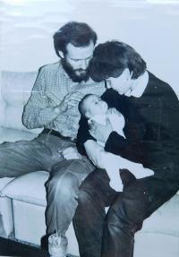 Milan Uhlíř s manželkou Lydií a dcerou Markétou