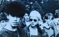 Studenti na Středním odborném učilišti v Horních Heřmanicích v roce 1987