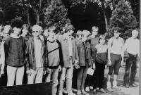 Students at the Secondary Vocational School in Horní Heřmanice in 1987
