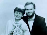 Svatební fotografie Milana a Lydie Uhlířových