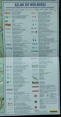 Vysvětlivky k mapě Rychlebských hor a Kralického Sněžníku s místy setkání a kurýrních cest československých a polských disidentů