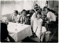 Akce Společnosti přátel USA k výročí dne nezávislosti 4. července 1988 na lodi Napjedla.