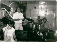 Václav Vaculík na akci Společnosti přátel USA k výročí dne nezávislosti 4. července 1988 na lodi Napajedla.