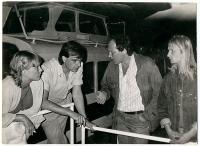 Vladimír Trlida a Stanislav Devátý na akci Společnosti přátel USA k výročí dne nezávislosti 4. července 1988 na lodi Napajedla.