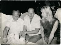 Vladimír Trlida, Stanislav Devátý a Václav Vaculík na akci Společnosti přátel USA k výročí dne nezávislosti 4. července 1988 na lodi Napajedla.