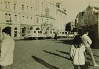 Během jedné z demonstrací v Praze v roce 1988 nebo 1989