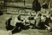 Na fotbalovém turnaji mániček u Pardubic na začátku osmdesátých let