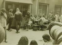 Na rockovém festivalu v Kyjově na konci osmdesátých let