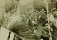 Vladimír Trlida na rockovém festivalu v Kyjově na konci osmdesátých let
