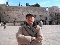 Harry Farkaš in Jerusalem at the Western Wall in 2004