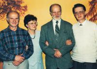 sourozenci Jaxa-Rozenovi, zleva: Marcin, Agnieszka, Krzystof, Wladyslaw, cca 2000