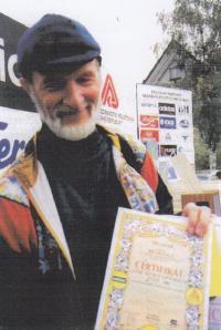 Krzystof na běžeckém závodě Běchovice