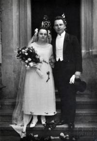 Svatba Marie Ševčíkové a Čeňka Rullera 1924