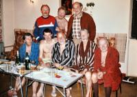 S přáteli v sauně 1984
