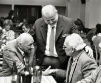 S profesorem Janem Jelínkem a docentem Zdeňkem Kobzou