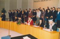 Promoce s rektorem Emanuelem Ondráčkem a děkanem Ivanem Rullerem