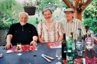 S kovářem Milanem Michnou a Josefem Němcem 2010