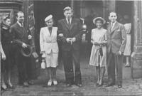 wedding of her parents together with Mr. and Mrs. Smrkovský