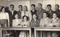 Čeští učitelé řeckých dětí, Unčín, 1952