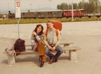 Edib se svou ženou Doubravkou (cca 1980)