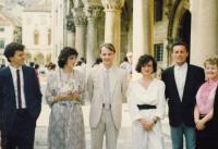 svatba s Doubravkou v Dubrovníku 22. 6. 1985