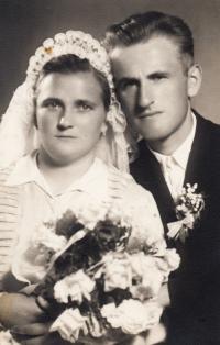 Parent's wedding, 1953
