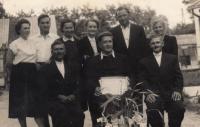 1971 Králové nad Váhou; her grandfather Imrich Preszinský to the right
